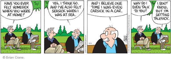 Comic Strip Brian Crane  Pickles 2011-08-26 disrespect