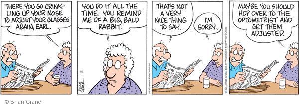 Comic Strip Brian Crane  Pickles 2011-09-01 big nose