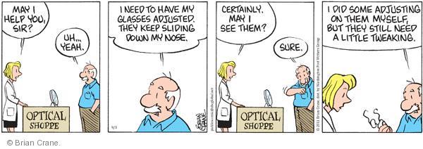 Comic Strip Brian Crane  Pickles 2011-09-03 assist