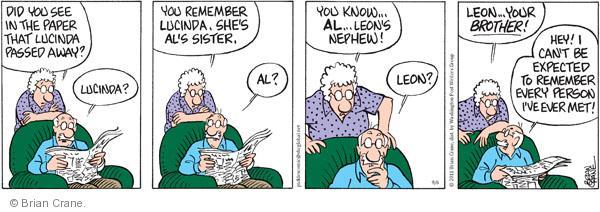 Comic Strip Brian Crane  Pickles 2011-09-06 Leon