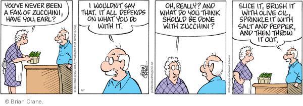 Comic Strip Brian Crane  Pickles 2011-09-07 salt