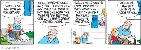 Comic Strip Brian Crane  Pickles 2011-09-10 experience