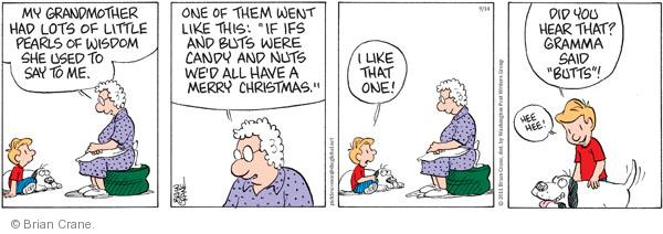 Comic Strip Brian Crane  Pickles 2011-09-14 grandmother