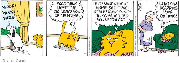Comic Strip Brian Crane  Pickles 2011-09-27 big cat