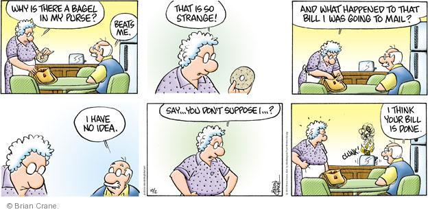 Comic Strip Brian Crane  Pickles 2011-10-02 unmindful