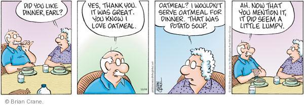 Comic Strip Brian Crane  Pickles 2011-10-08 breakfast