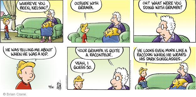 Cartoonist Brian Crane  Pickles 2011-10-30 reminiscence