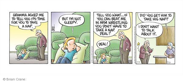 Comic Strip Brian Crane  Pickles 2011-11-14 lose