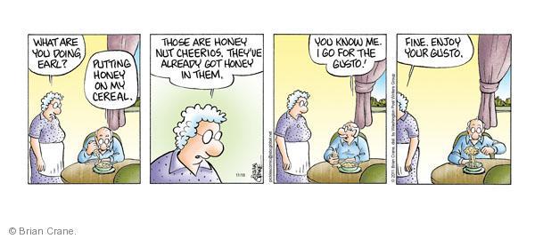 Comic Strip Brian Crane  Pickles 2011-11-18 nut