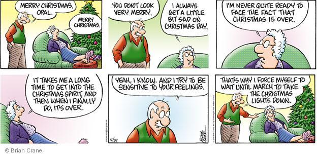 Comic Strip Brian Crane  Pickles 2011-12-25 Merry