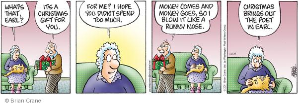 Comic Strip Brian Crane  Pickles 2011-12-20 runny