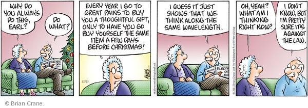 Comic Strip Brian Crane  Pickles 2011-12-23 anger