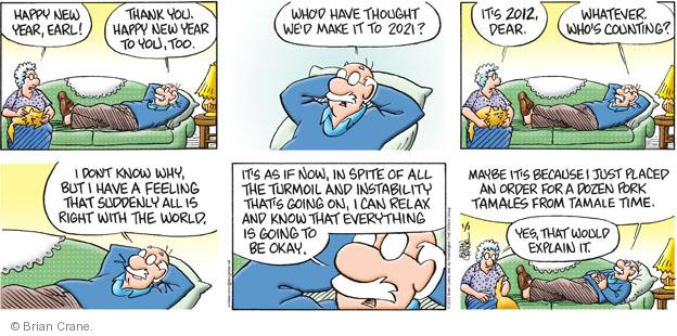 Comic Strip Brian Crane  Pickles 2012-01-01 AIDS