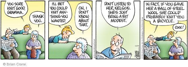 Comic Strip Brian Crane  Pickles 2011-12-30 ability