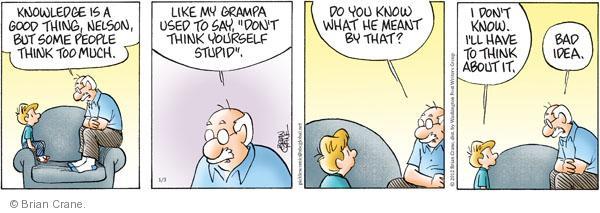 Comic Strip Brian Crane  Pickles 2012-01-03 bad