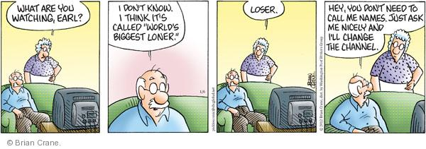 Comic Strip Brian Crane  Pickles 2012-01-06 etiquette