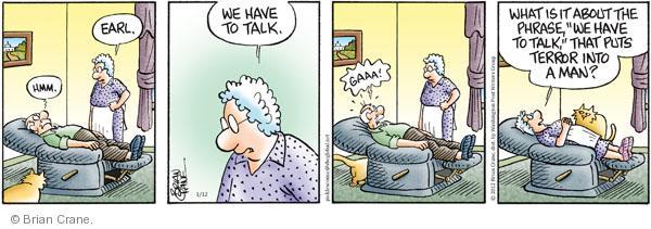 Comic Strip Brian Crane  Pickles 2012-01-12 husband