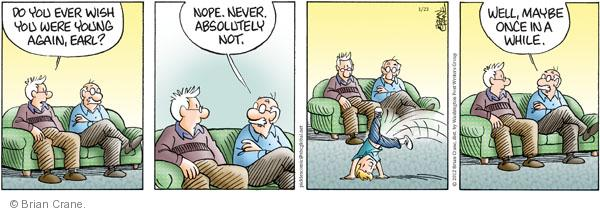 Comic Strip Brian Crane  Pickles 2012-01-23 nope