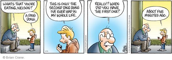 Comic Strip Brian Crane  Pickles 2012-01-26 ding dong