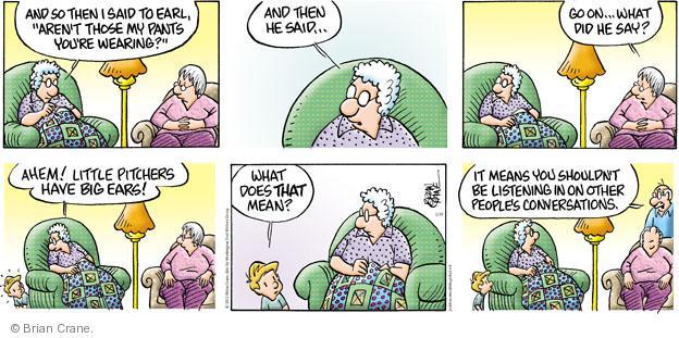 Comic Strip Brian Crane  Pickles 2012-01-29 ahem