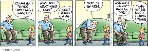 Comic Strip Brian Crane  Pickles 2012-02-06 fish