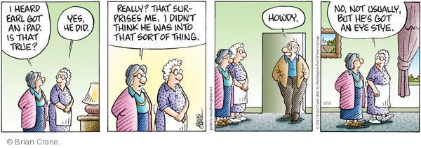 Comic Strip Brian Crane  Pickles 2012-02-11 mobile device