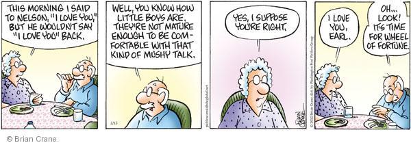 Comic Strip Brian Crane  Pickles 2012-02-15 affection