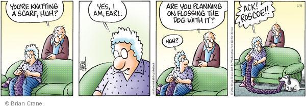 Comic Strip Brian Crane  Pickles 2012-02-21 dog teeth