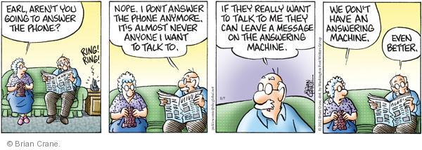Comic Strip Brian Crane  Pickles 2012-03-07 caller