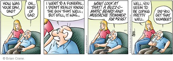 Comic Strip Brian Crane  Pickles 2012-03-13 telephone