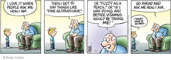 Comic Strip Brian Crane  Pickles 2012-03-14 healthy