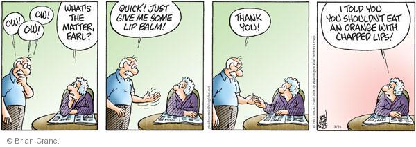 Comic Strip Brian Crane  Pickles 2012-03-24 lip