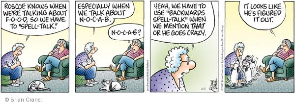 Comic Strip Brian Crane  Pickles 2012-03-27 crazy