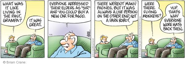 Comic Strip Brian Crane  Pickles 2012-03-31 buying car