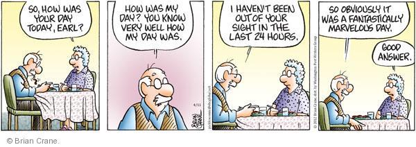 Comic Strip Brian Crane  Pickles 2012-04-11 relationship
