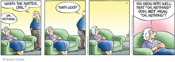 Comic Strip Brian Crane  Pickles 2012-04-04 good mood