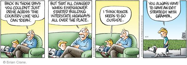 Cartoonist Brian Crane  Pickles 2012-04-19 highway