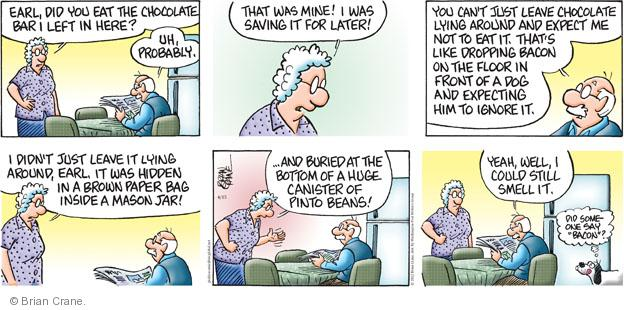 Comic Strip Brian Crane  Pickles 2012-04-15 paper bag