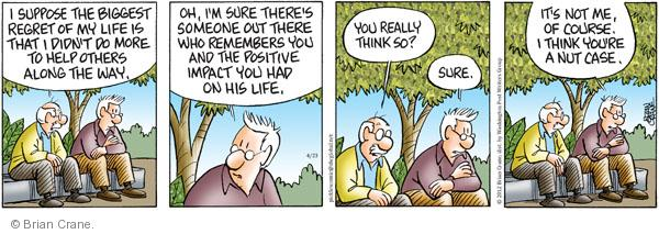 Comic Strip Brian Crane  Pickles 2012-04-23 accomplishment