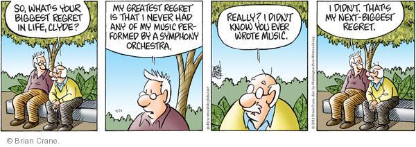 Comic Strip Brian Crane  Pickles 2012-04-24 song