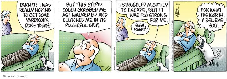 Comic Strip Brian Crane  Pickles 2012-04-30 relaxation
