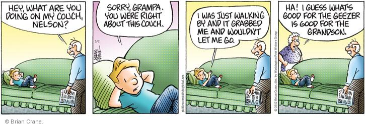 Comic Strip Brian Crane  Pickles 2012-05-02 grandson