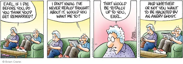 Comic Strip Brian Crane  Pickles 2012-05-03 married couple