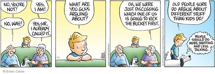 Comic Strip Brian Crane  Pickles 2012-05-05 argument