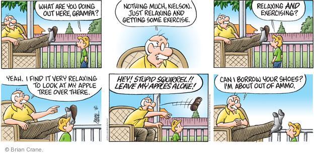Comic Strip Brian Crane  Pickles 2012-05-06 apple tree