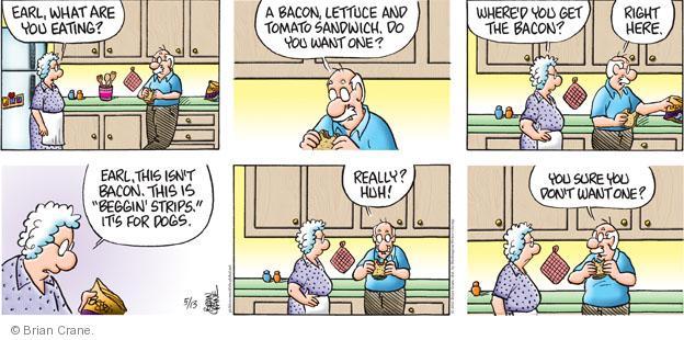 Comic Strip Brian Crane  Pickles 2012-05-13 dog food