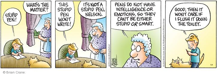 Comic Strip Brian Crane  Pickles 2012-05-08 Nelson