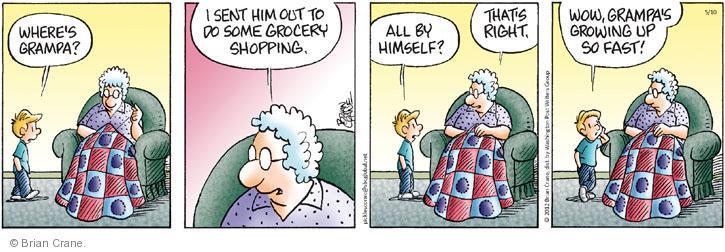 Comic Strip Brian Crane  Pickles 2012-05-10 grocery shop