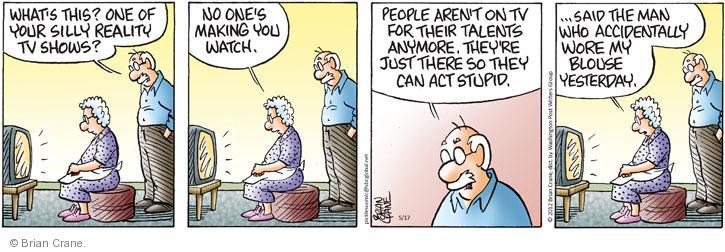 Comic Strip Brian Crane  Pickles 2012-05-17 reality