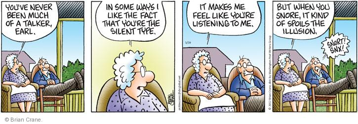 Comic Strip Brian Crane  Pickles 2012-05-19 silence